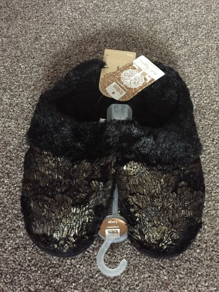 TOTES ladies Mule slippers With Durable Sole size Large UK7-8 EU41-42 BNWT