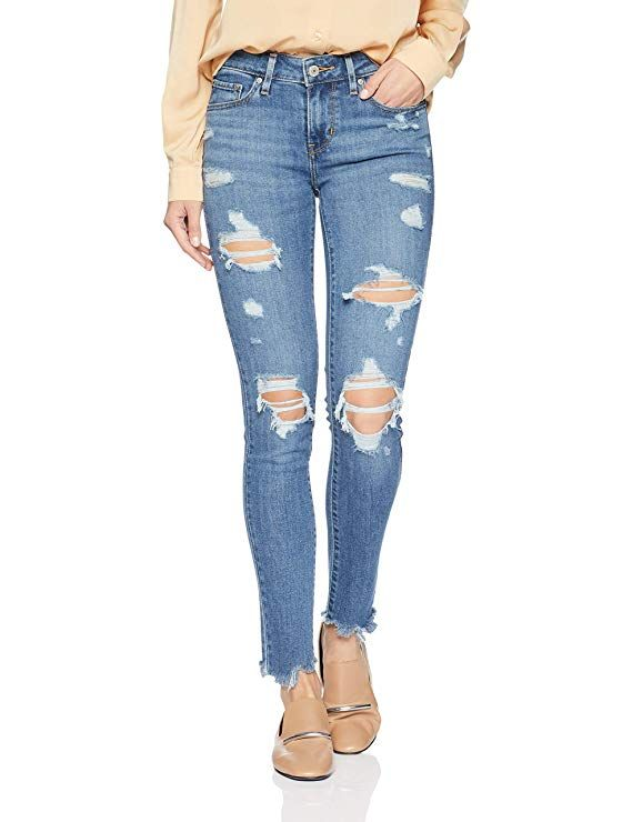 02c013bf9bb Levi's Women's 711 Skinny Jeans, Damage Is Done, at Amazon Women's Jeans  store