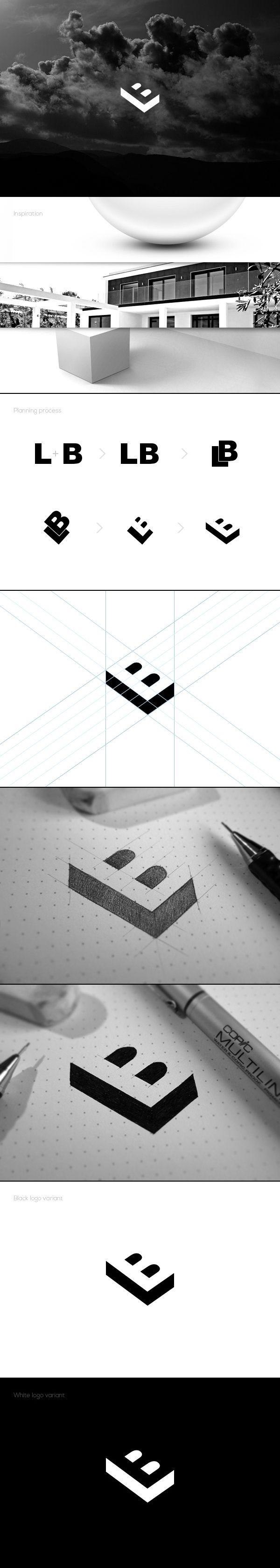 Béla Lajos personal logo - behance