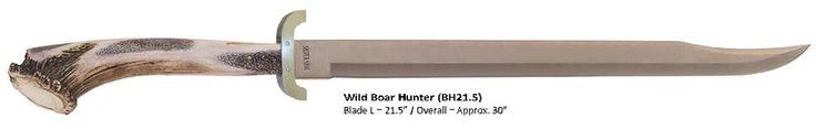 Silver Stag Wild Boar Hunter Sword