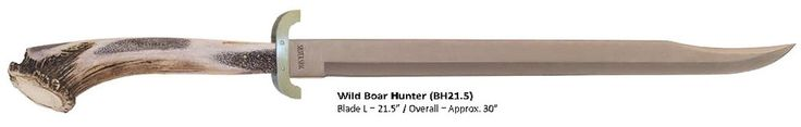 Silver Stag Wild Boar Hunter Sword