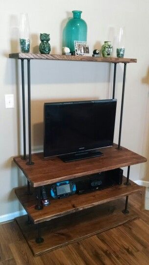 industrial entertainment center diy 2