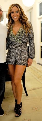 Melissa Gorga's Snake Print Romper | Big Blonde Hair : Big Blonde Hair http://www.bigblondehair.com/real-housewives/rhonj/melissa-gorgas-snake-print-romper/