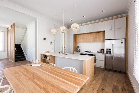 Brooke and Mitch - the Block nz Villa wars - kitchen week. Love all the wood