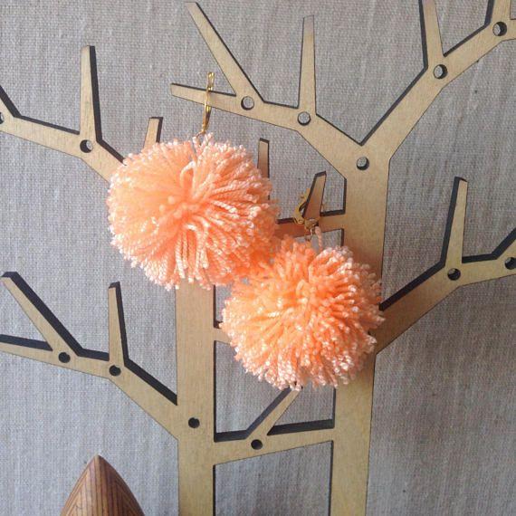 Pom Pom Cute Dangle Earrings / Pom Pom Casual Dangle Earrings