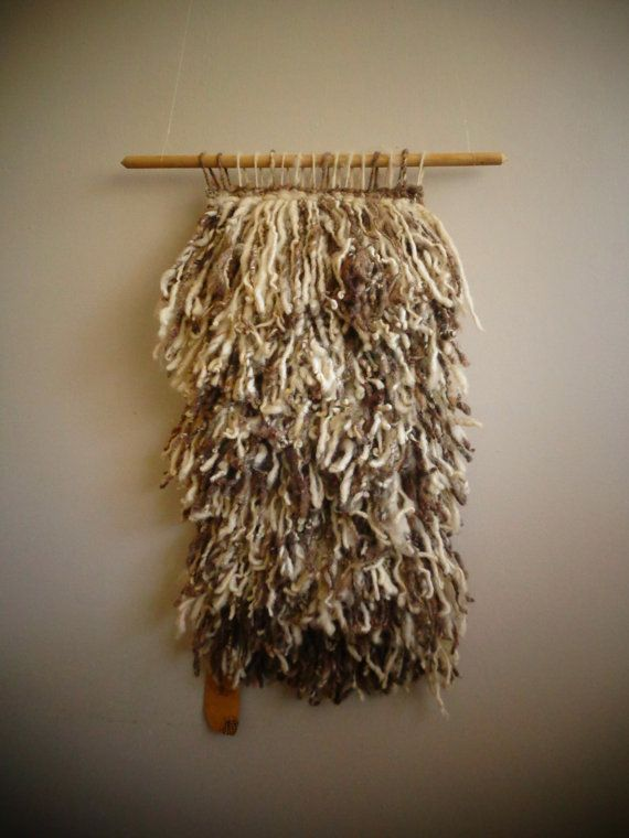 Rustic Wool Wall Hanging by CrisalidaTextile on Etsy