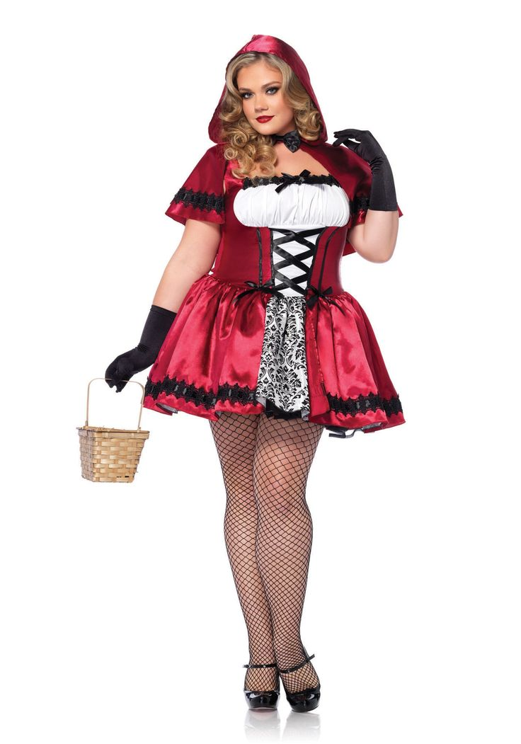 Gothic Red Riding Hood Plus Size Costume  Plus Size -2293