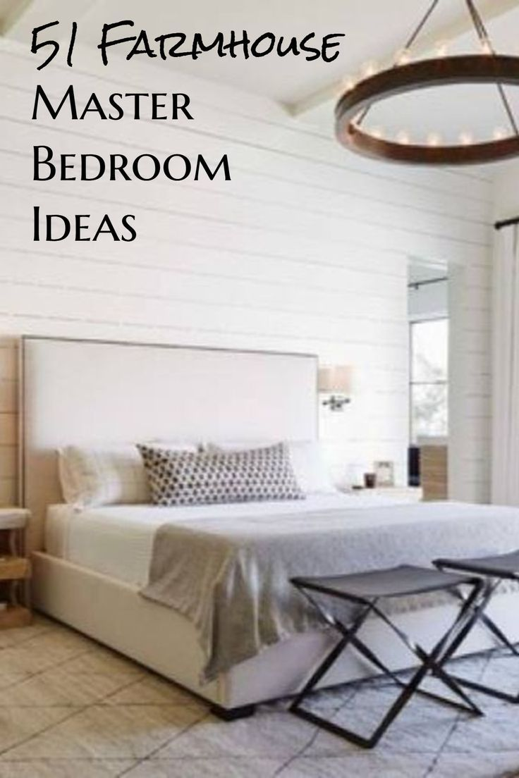 51 Rustic Farmhouse Bedroom Decor Ideas With Images White