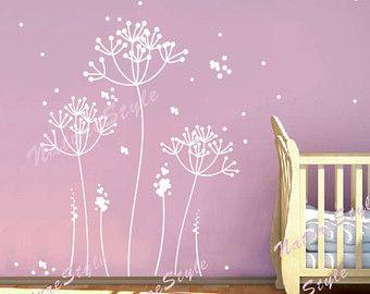 Vinyl wall decals flower wall decal sticker art Nursery wall