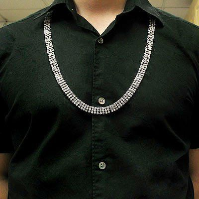 14K Gold Mens Diamond Necklace Prong Chain 31.41ct