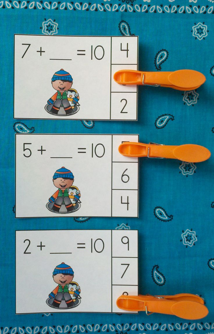 Engaging Winter Addition Activities for Your Little Learners!   $   #addition  #winter  #wintermath  #FriendsOf10  #making10 #kampkindergarten  #snowday       https://www.teacherspayteachers.com/Product/Winter-Friends-of-10-Addition-Clip-Cards-2290693