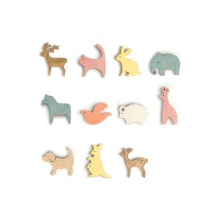 'woodyfam' animal magnets - cplay