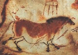 Cavallo (particolare); autore:sconosciuto;datazione: 15 000-10 a.C;tecnica: dipinto rupestre; luogo:grotta di Lascaux, Francia