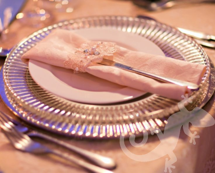 I do...first wedding portfolio, crystal napkin detail