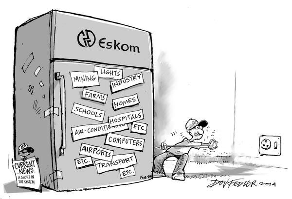 Eskom battles to keep the lights on.