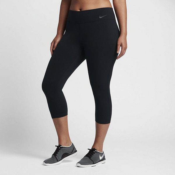 Nike Power Legendary (Plus Size) Women's Training Capris. Nike.com ($85) ❤ liked on Polyvore featuring activewear