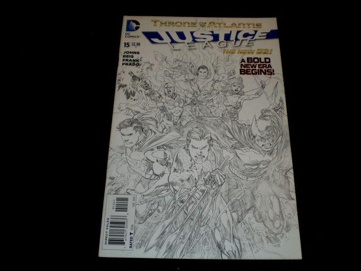 Justice League 15, 1:25 sketch variant, 2013, Crossover Aquaman, New 52!, DC IJ