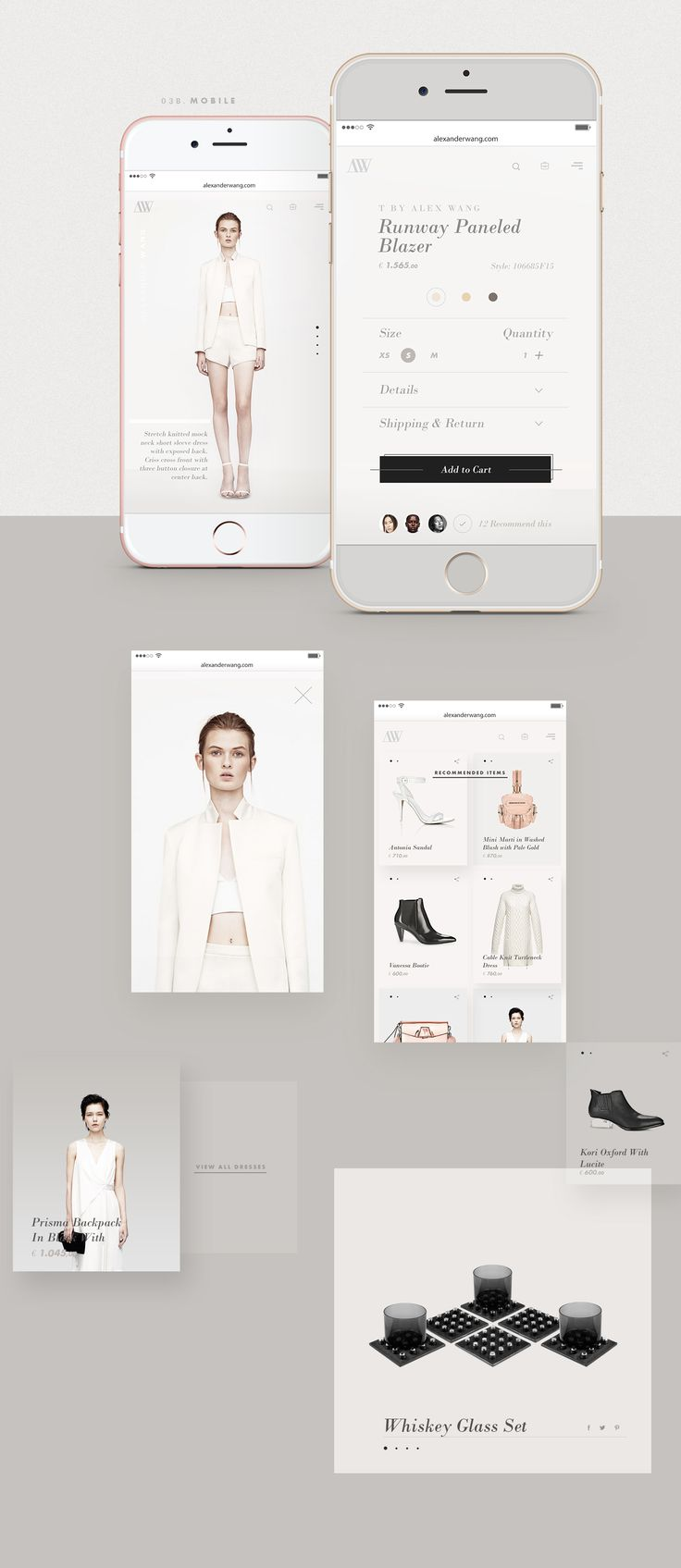 Redesign of the fashion designer Alex Wang´s website. This is a personal project.