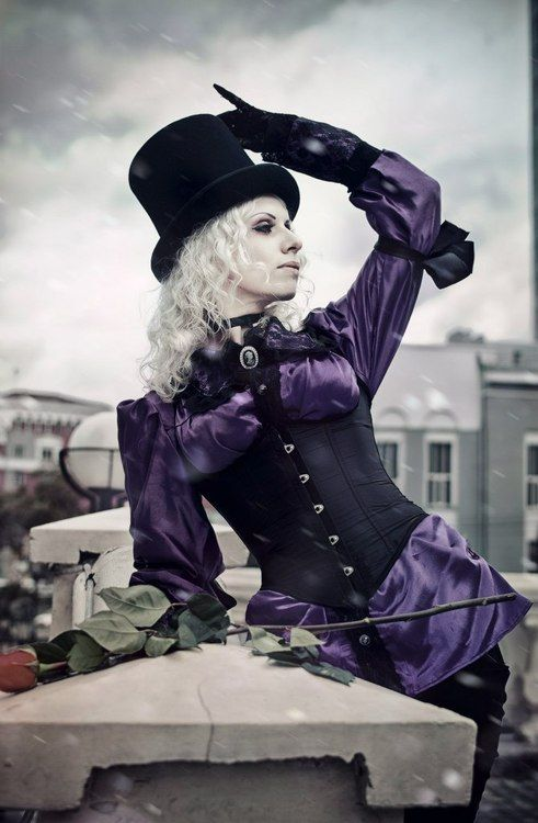 Image result for purple steampunk girls