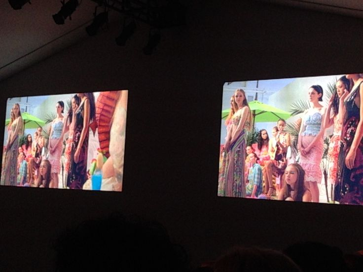 Video clip from catwalk show at LFW end.