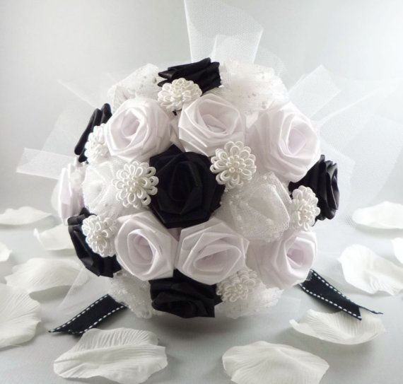 Uptown Wedding Bouquet Origami Bridal Bouquet by TheWhiteBouquet