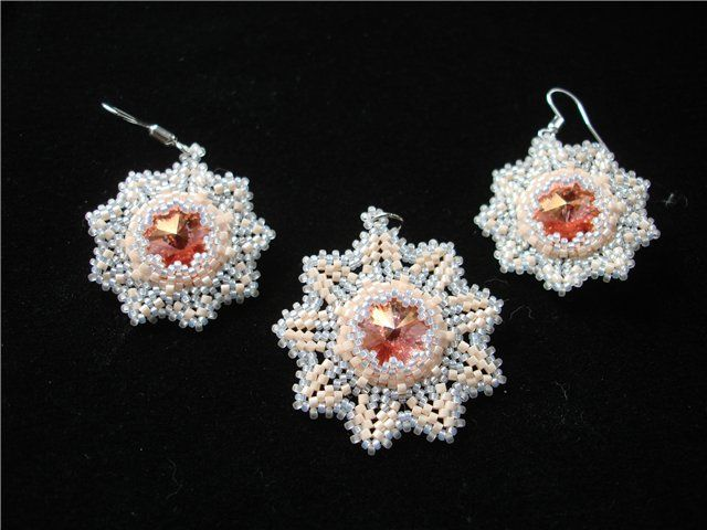 Needs transl. A tutorial more for the surround than for capturing the crystal. Still, lovely. #seed #bead #tutorial.