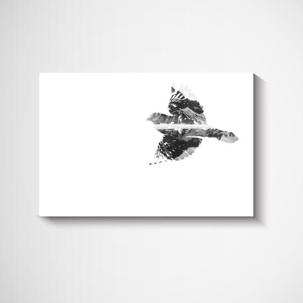 Glider bird Scandinavian Wall Art Print