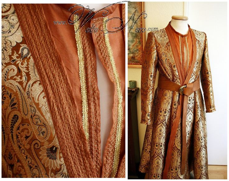 Prince Oberyn Martell Full Costume Dorne Game of Thrones cosplay coat brocade robe tunic pants and belt Red Viper