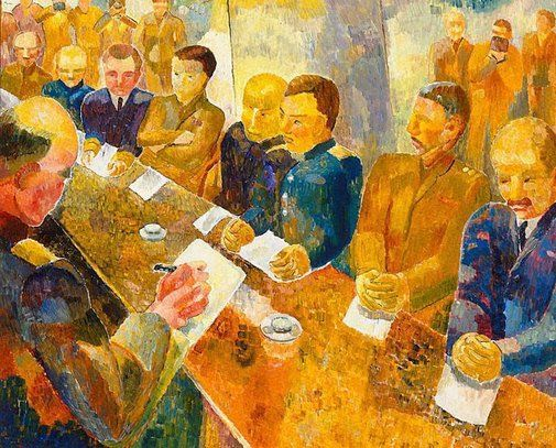 An image of Signing by Grace Cossington Smith