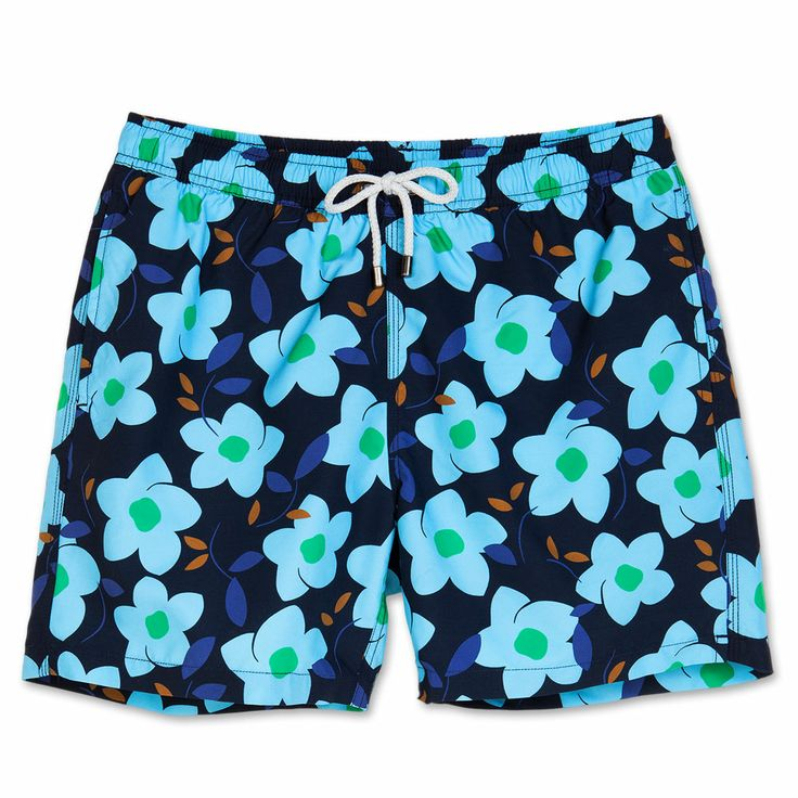 Bluemint mens swim trunks. Bluemint swimwear is perfect on the beach or at the bar, every guys essential for this summer.   Style: Arthur, Blue Flow