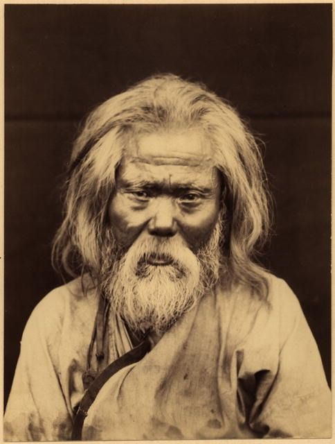 An Ainu-Giliak (shaman) from the village of Agnevo near the post of Due, Sakhalin, ca. 1890s attr. to Innokentii Pavlovskii
