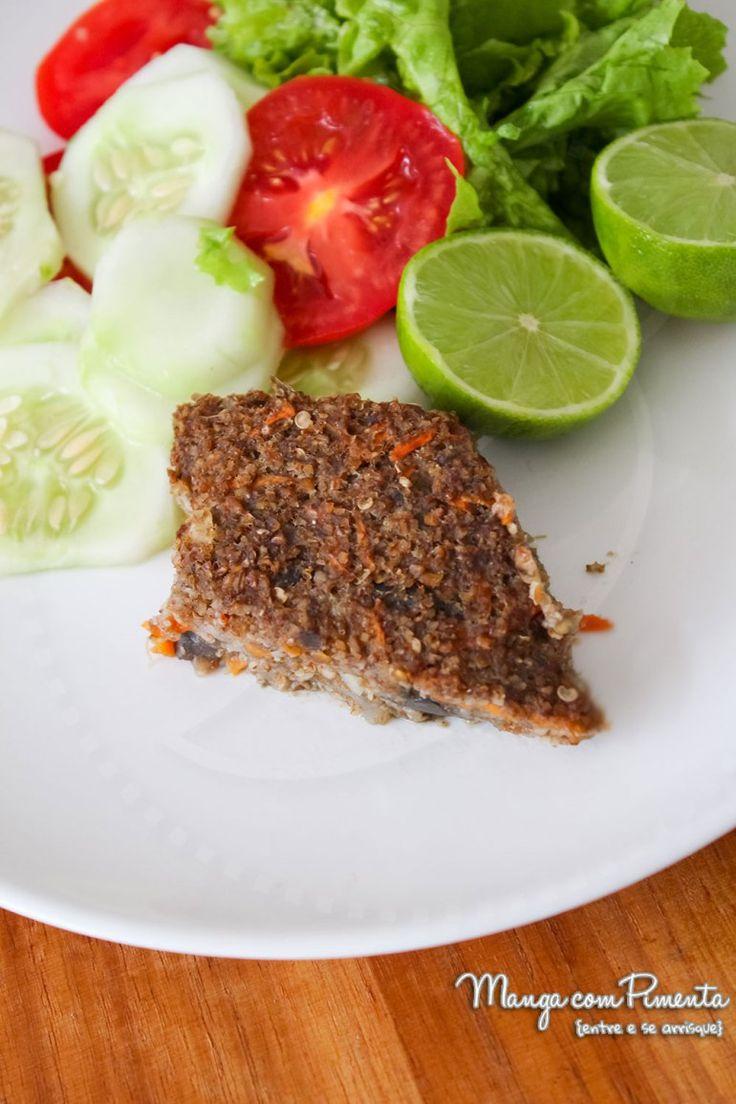 Quibe de Berinjela, perfeito para as mamães que não comem carne. Para ver a receita, clique na imagem para ir ao Manga com Pimenta.