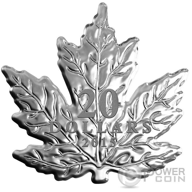 CUT OUT MAPLE LEAF Silver Proof Coin 20$ Canada 2015