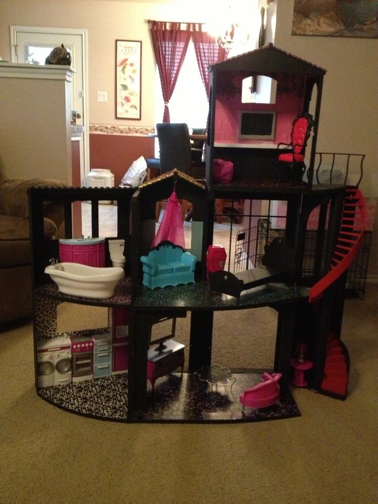 Monster High Dollhouse Monster High Evleri Pinterest Monster High Dollhouse Monsters And