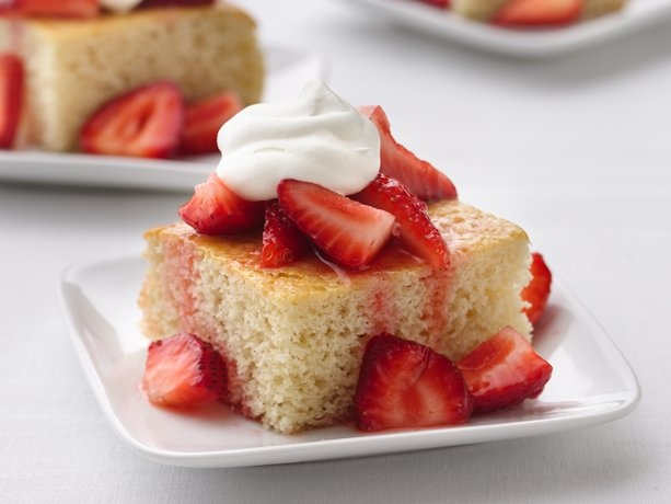 Healthified Strawberry Shortcake Squares | For the Home | Pinterest