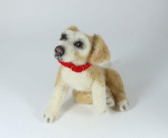 Portrait Miniature Beagle Dog Little Copy Your Pet by KNartDesign