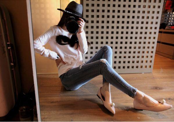 Korea feminine clothing Store [SOIR]  [Pt] Simply Skinny eoteom / Size : XS, S, M, L, XL / Price : 47.61USD #korea #fashion #style #fashionshop #soir #feminine #special #lovely #luxury #pants #denim #jean #casual