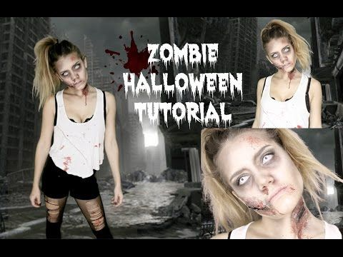 9 best images about halloween on pinterest easy zombie halloween tutorial last minute idea youtube solutioingenieria Choice Image