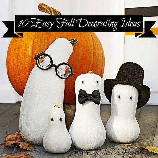 Pinterest top 10 easy fall and halloween decorating ideas. Great ideas for mantles, tables, centerpieces, porches and more