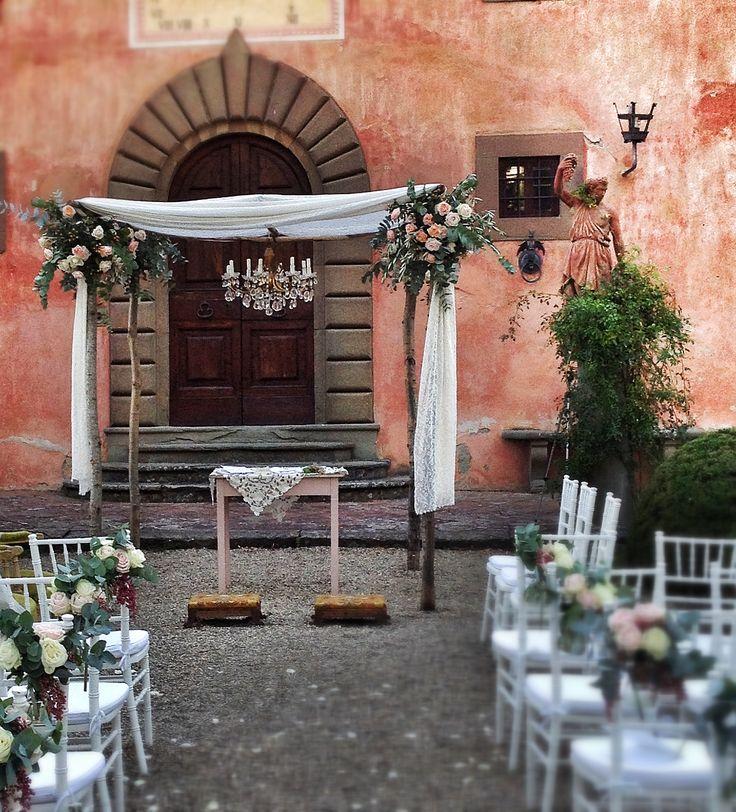 Ceremony, La Rosa Canina FIRENZE #weddingdecor #flowersdecor #weddingintuscany