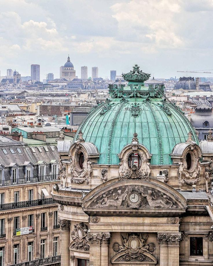 "(@paris) on Instagram: ""Wonderful view from the Galerie Lafayette rooftop terrasse, beautifully photographed by…"""