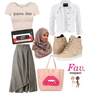 Cute. & Simple. - Polyvore #HijabStyle #WhatToWear #Lovely #Pastel