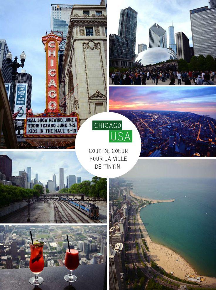 Chicago, ses buildings à l'architecture si particulière, ce sentiment de tournis en levant la tête, est-ce Tintin qu'on voit à la fenêtre? Le métro aérien, terriblement lent et pourtant si agréable à prendre pour découvrir la Loop, la rivière qui traverse la ville, apportant ce souffle d'air si nécessaire…