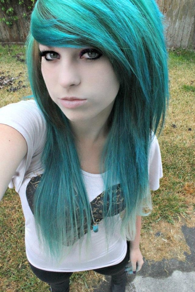 эмо девушки с синими волосами фото - 10