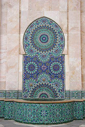 Morroco, Mosaic and Fountain