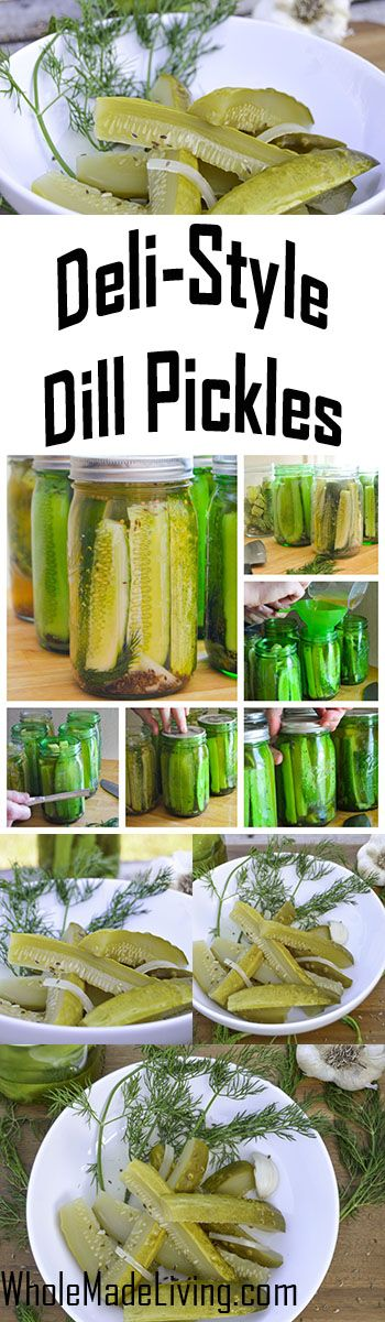 Deli-Style Dill Pickles   Whole Made Living. These are as good as those dill pickles at your neighborhood deli. They're crunchy and got that tang and bite you love in a great deli pickle!