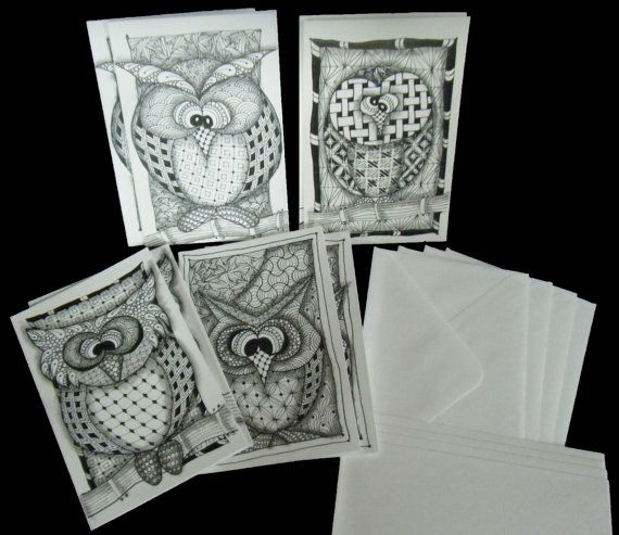 17 Best Images About Zentangle Cards On Pinterest