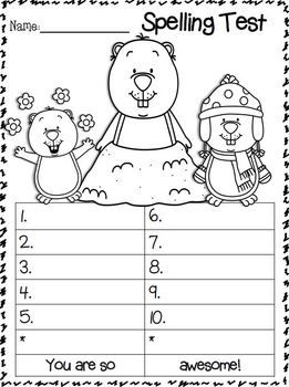 FREEBIES!!!!  These are the BEST EVER to use for spelling tests! Students can color the pictures as they wait for the next word to be called out.  Thought I would share the love!!!! Themes: Valentine's Day, Dental Health, Groundhog's Day, Presidents, Winter Games  Enjoy this freebie!!!!