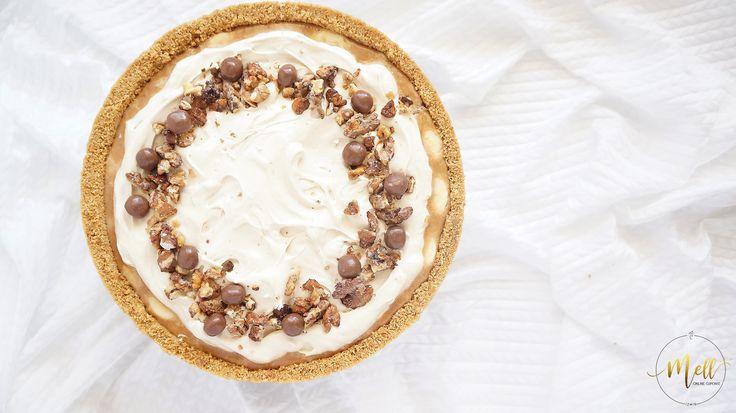 Süt reçelli muzlu tart  #banoffeepie #foodphotography #mellcupcake