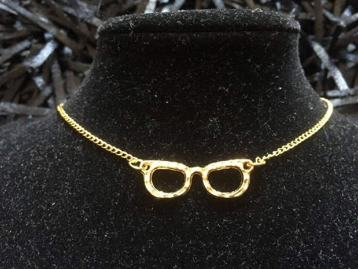 Glasses necklace, golden plated necklace, Hippie Necklace, Hipster Necklace by pacforme on Etsy